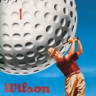 Poster Wilson Golfball Dimples 1952